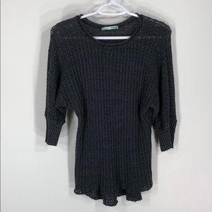 Charcoal gray Crochet top
